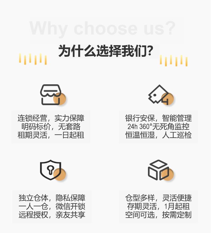 百宝仓迷你仓库出租,您身边的智能仓储服务,产品优势